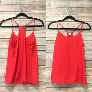 J. Crew Factory Strappy Red Tank Top
